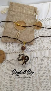 Collana in fibra naturale.Alpaca collection