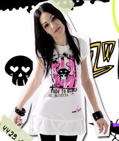 Miniabito vestito Killing Capera dark emo punk wonderland kawaii