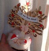 Albero vita natalizio- bebè fimo- primo Natale