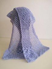 Sciarpina lana azzurra ad uncinetto