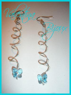 Orecchini Blue String