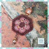 "Collana con Ciondolo African Flower ""Terra"