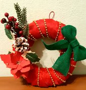 Ghirlanda handmade rossa