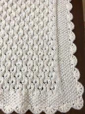 Copertina di lana neonata neonato fatta a mano