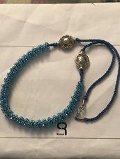 Collana rondelle azzurro