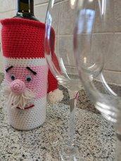 Babbo Natale Porta Bottiglie