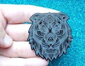 Stampo in gomma siliconica Leone Mandala