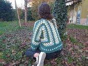 Giacchino uncinetto / golfino in lana / casacca donna fatta a mano