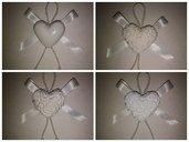 Gessetti profumati cuore con magnete calamita bomboniera segnaposto