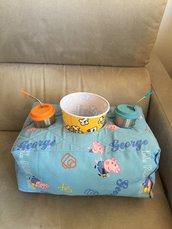 Cinema a casa - cuscino per popcorn e bevanda!