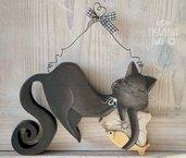 Gattino in legno massello by Creazioni GiaRó  Ⓒ