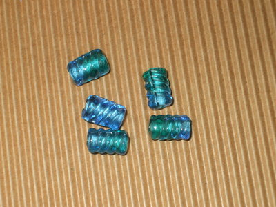 5 perle vetro turchese
