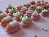 confetti decorati bomboniera battesimo bimba