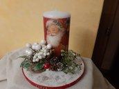 Centrotavola natalizio fatto a mano