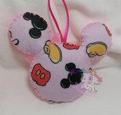 Palline di natale in pannolenci topolino/Minnie personalizzata
