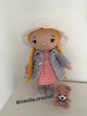 Bambola ELINA-Bambola amigurumi-Bambola uncinetto-bambola crochet
