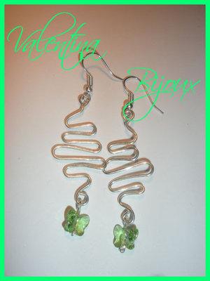Orecchini Green twirl