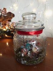 Vaso con villaggio natalizio | decorazione di Natale