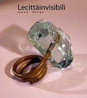 Anello ottone ghiacciato anello medievale Grande anello Anello regale anello nobile