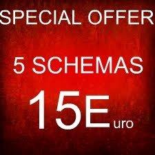 SUPER OFFERTA - 5 SCHEMI PEYOTE BRACCIALE A €15