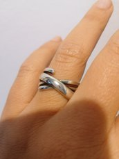 Bellissimo anello argentato