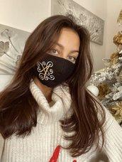 Mascherina cotone viso donna personalizzata. Lavabile