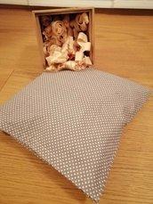 Woody Cotton - Cuscino imbottito con fiocchi di Cirmolo - Fodera esterna in cotone