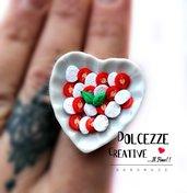 Anello Piatto a cuore - Caprese - pomodoro e mozzarella con origano e basilico
