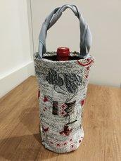 Porta bottiglie in tessuto Natale