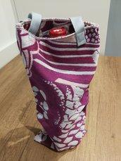 Portabottiglie in tessuto con manici idea regalo