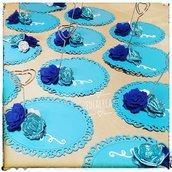 Segnaposto azzurro cerimonia
