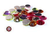 50 Cabochons Vetro 14x4mm - Mix colors - sfaccettati