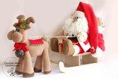 Babbo Natale con renna