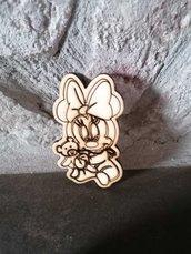 Baby Minnie in legno - misura 8 cm