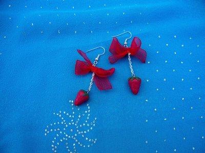 orecchini con fragoline