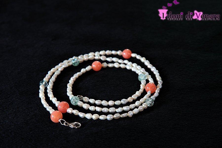 Collana con perle di fiume