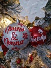 pallina natalizia personalizzata con nome