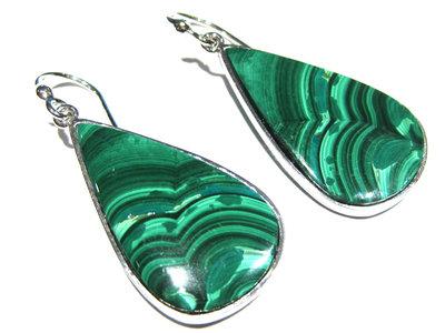 orecchini malachite verde