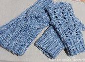 Set guanti senza dita + fascia