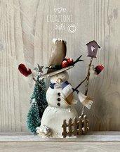 Snowman in legno massello by Creazioni GiaRó  Ⓒ