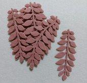 foglie in feltro rosa antico