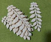 foglie in feltro beige