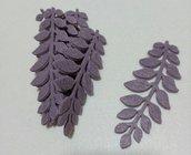foglie in feltro color glicine scuro