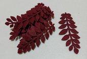 foglie feltro bordeaux