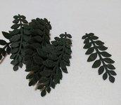 foglie in feltro verde scuro