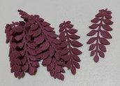 foglie in feltro color vinaccia