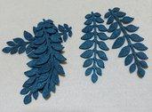 foglie in feltro petrolio