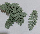 foglie in feltro verde salvia