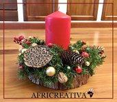 Centro tavola natalizio su legno