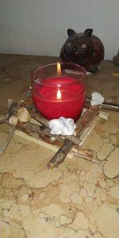 Porta candele decorati